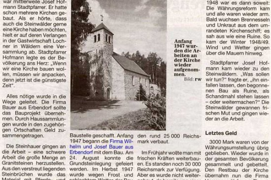 Steinwaldkirche Wäldern
